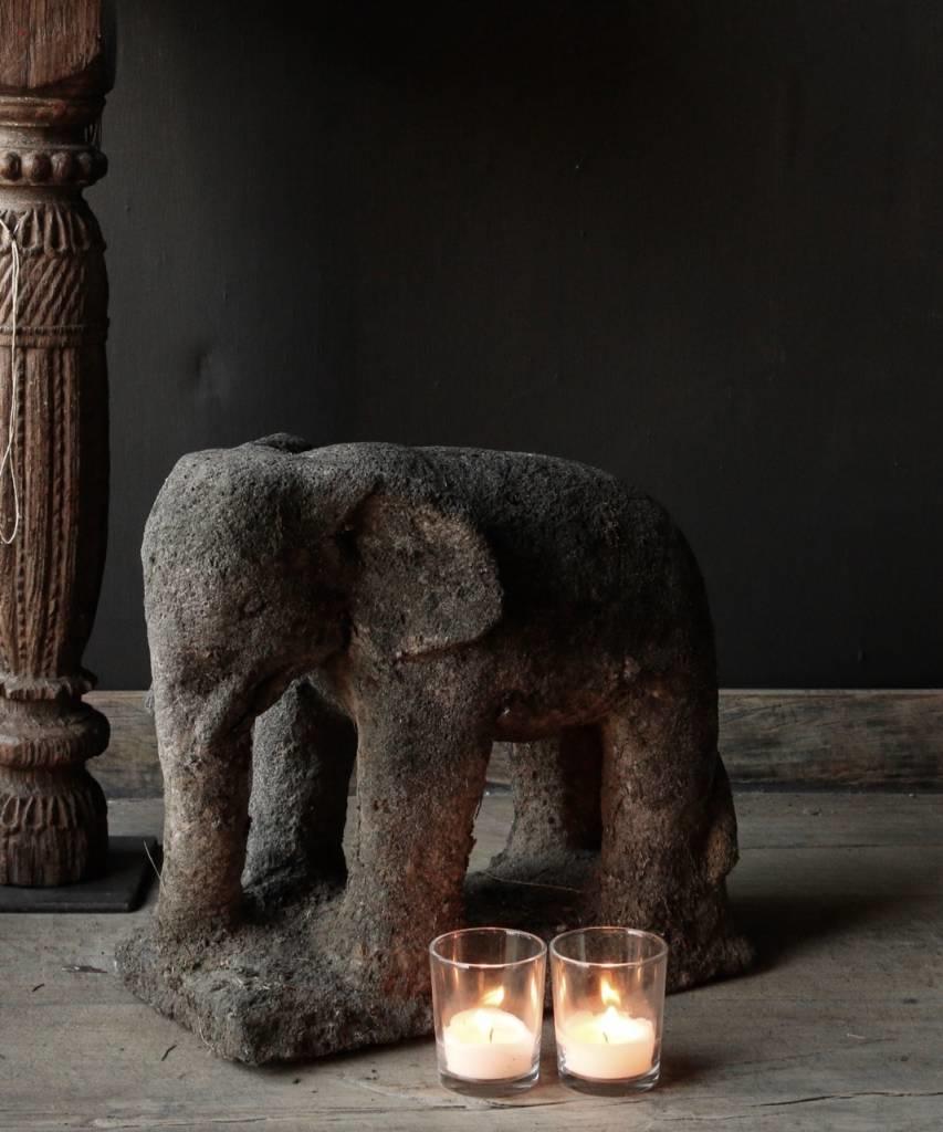 Beautiful dark gray sandstone Elephant-3