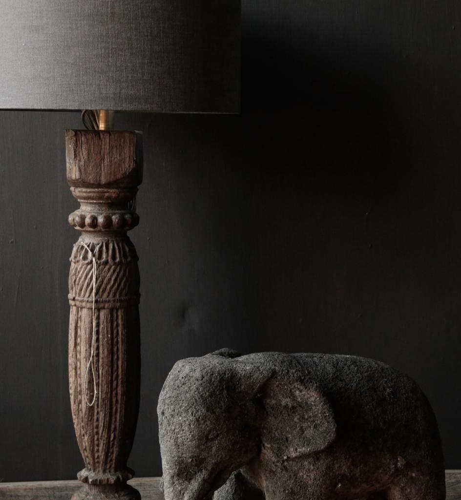 Beautiful dark gray sandstone Elephant-6
