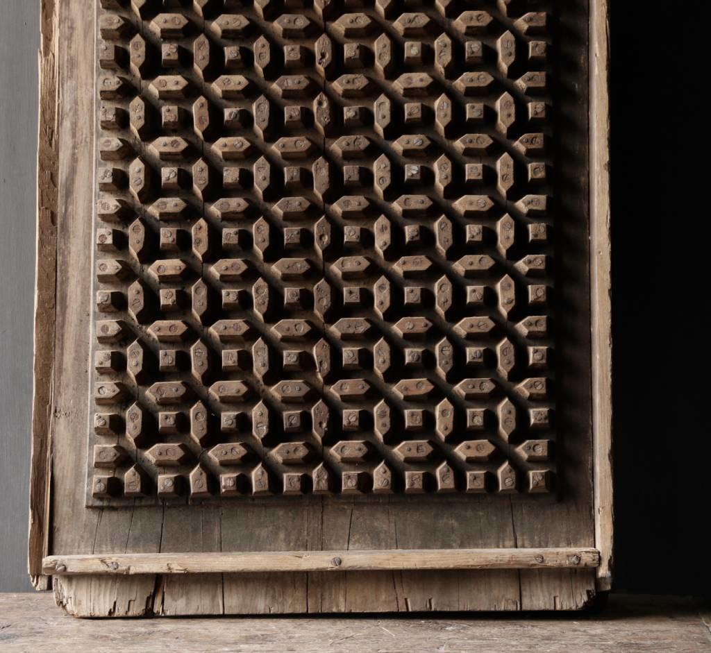 Prachtig Oud houten raam mal-2