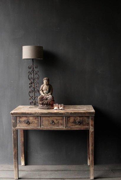 Authentischer alter Wandtisch mit Schubladen