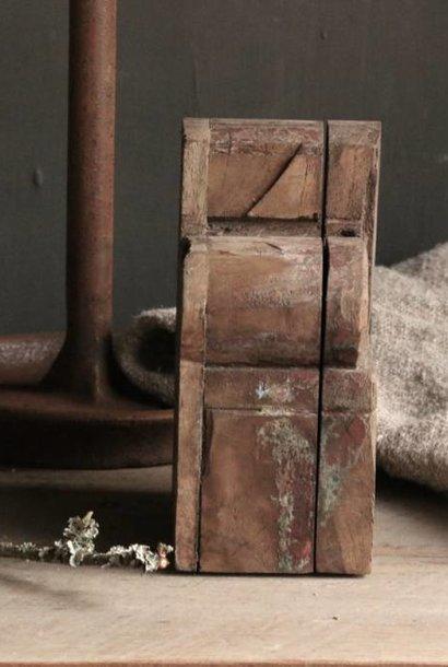 Oude nepaleese houten spice box