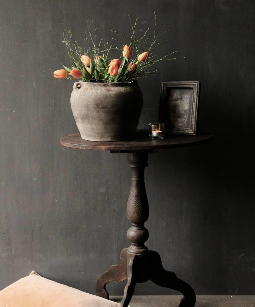 Donker houten Wijntafeltje met ovaal blad-3