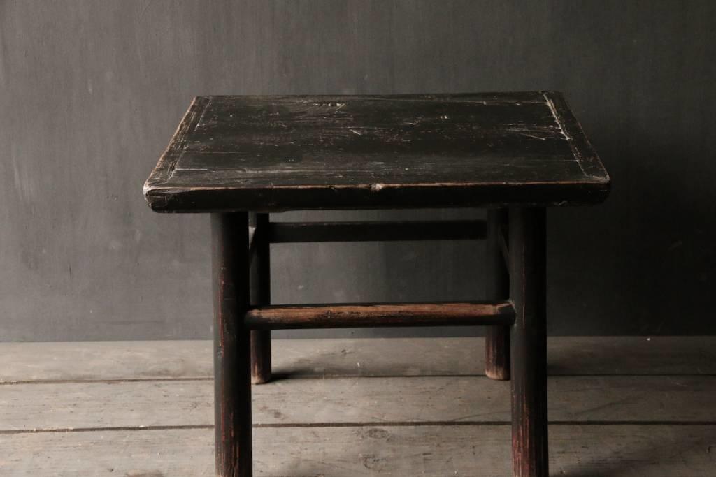 Alter authentischer hölzerner Salon / Beistelltisch Quadrat Einzigartiger Artikel-4