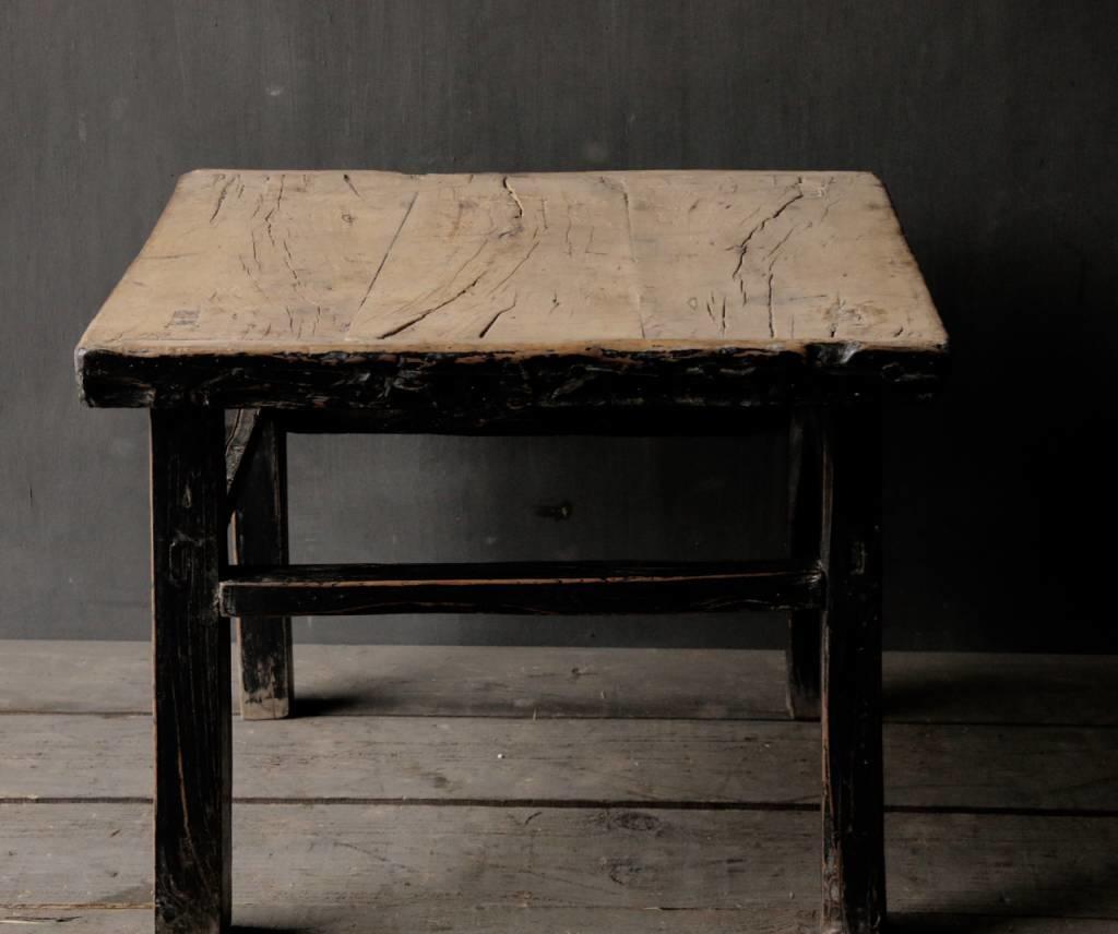 Alter authentischer hölzerner Salon / Beistelltisch Quadrat Einzigartiger Artikel-5