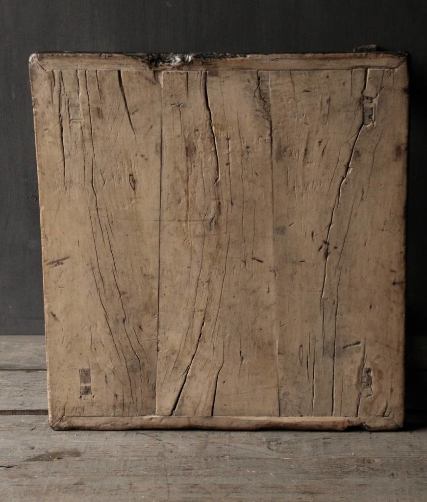 Alter authentischer hölzerner Salon / Beistelltisch Quadrat Einzigartiger Artikel-7