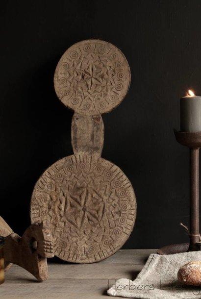 Prachtig Uniek Kutch plank oftewel een dubbele chapati plank