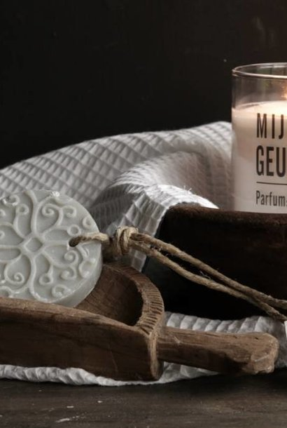 Batik Seife hellgrau Parfüm Baumwolle