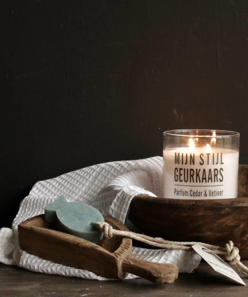 Zeep Hanger vis  met oregano parfum olive-1