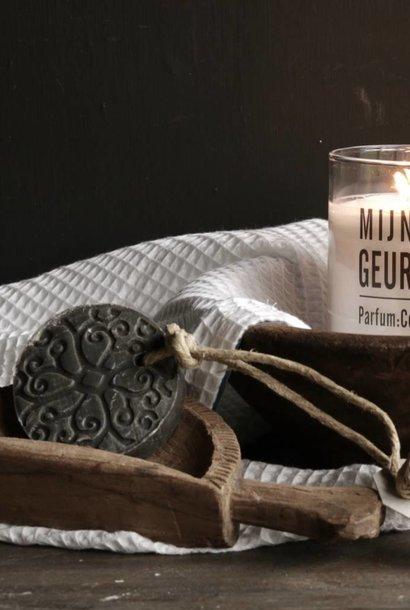 Puur Zeep schijf batik donker grijs