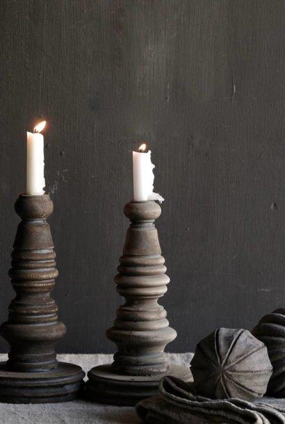 Wooden candlestick