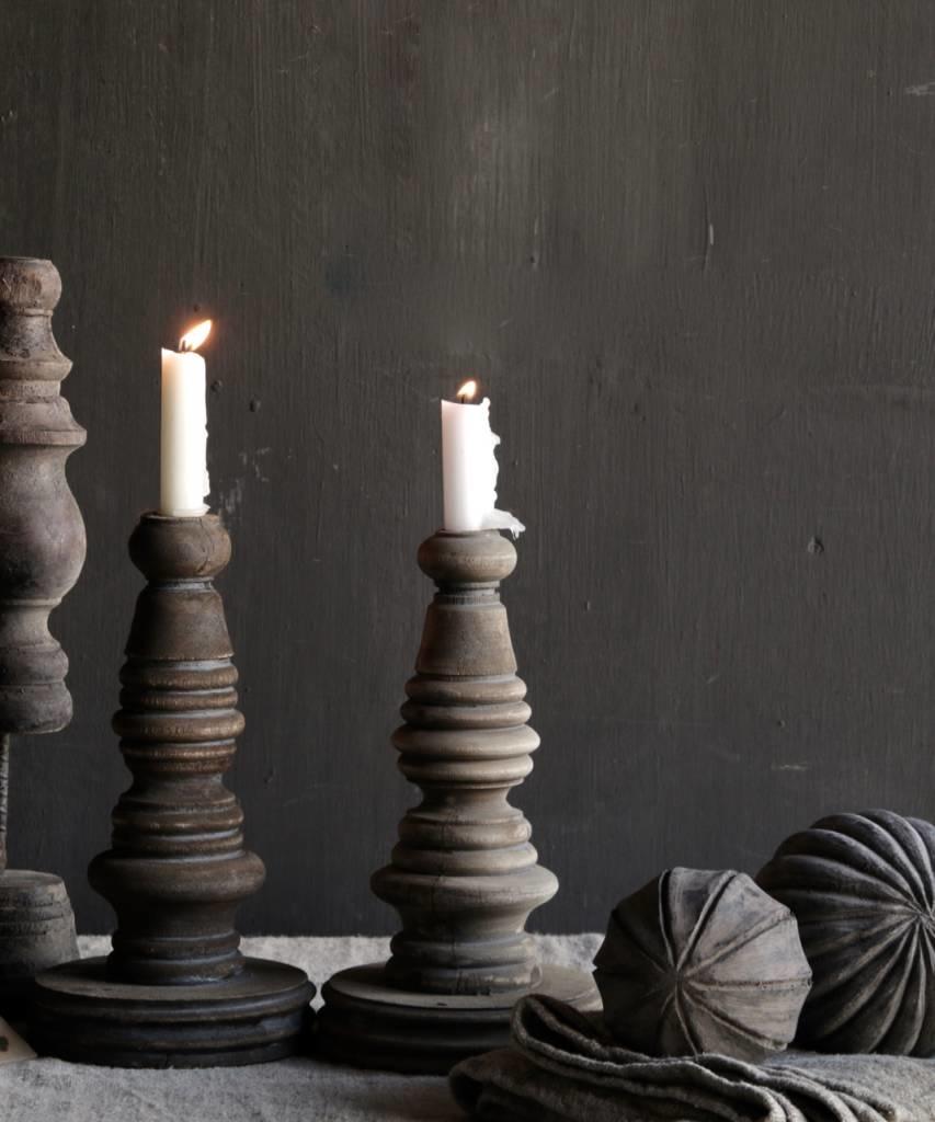 Wooden candlestick-1