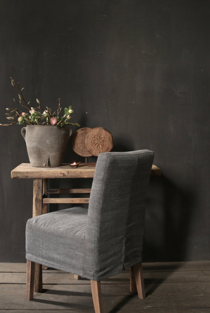 Dining chair Guus with loose linen cover