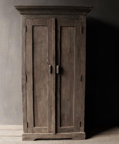 Prachtig Stoer Landelijk massief  oud houten kast