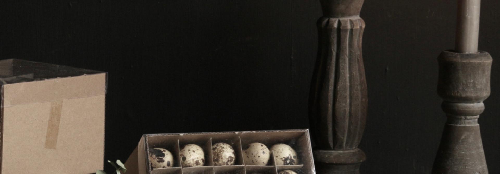 Doosje met 60  kwartel eitjes