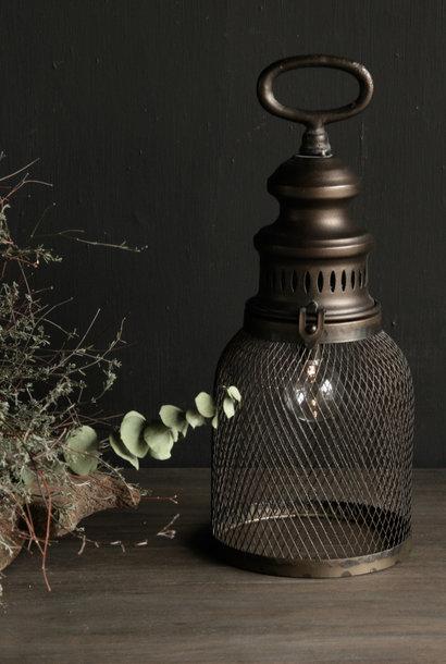 * Sold * French stall lantern / storm lantern on battery
