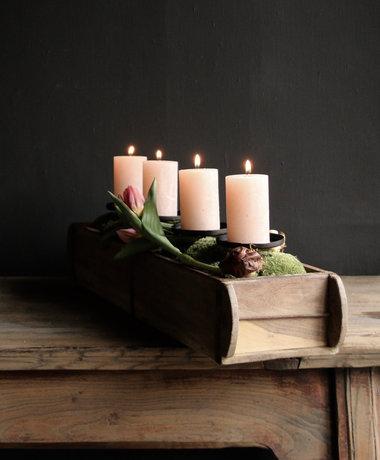Doppelter steenmaler Kerzenständer