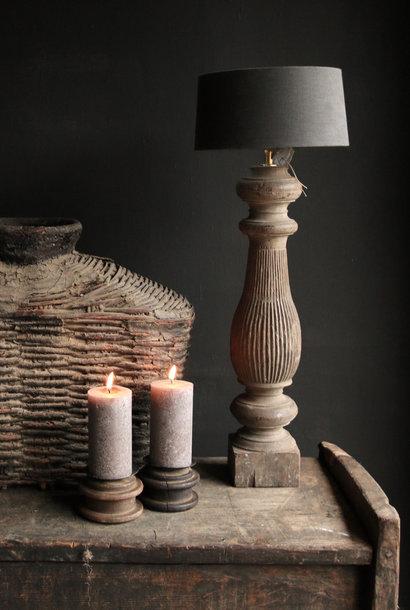 Prachtig Oude Houten Baluster lamp voet