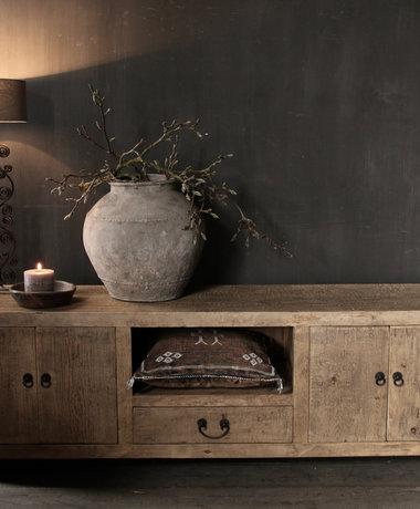 Prachtig Stoer elmwood houten Dressoir/TV kast