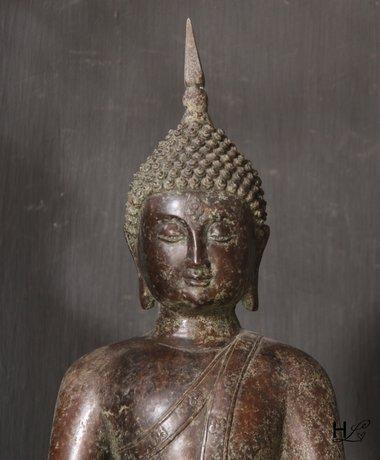 Kupfer Buddha sitzend