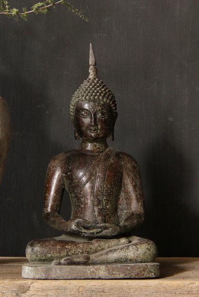 Zittende Koperen Buddha