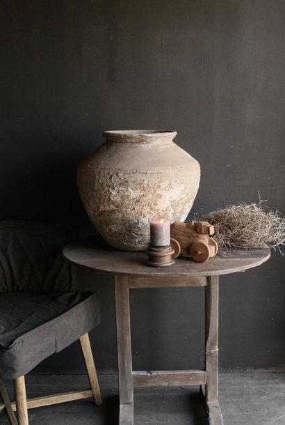 Oud houten vergrijsde Wijntafel
