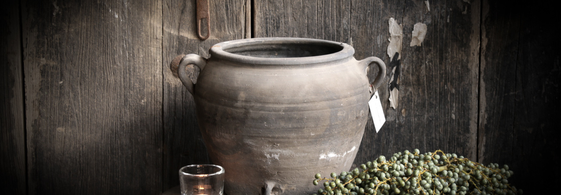Gray earthenware jugs and bowls