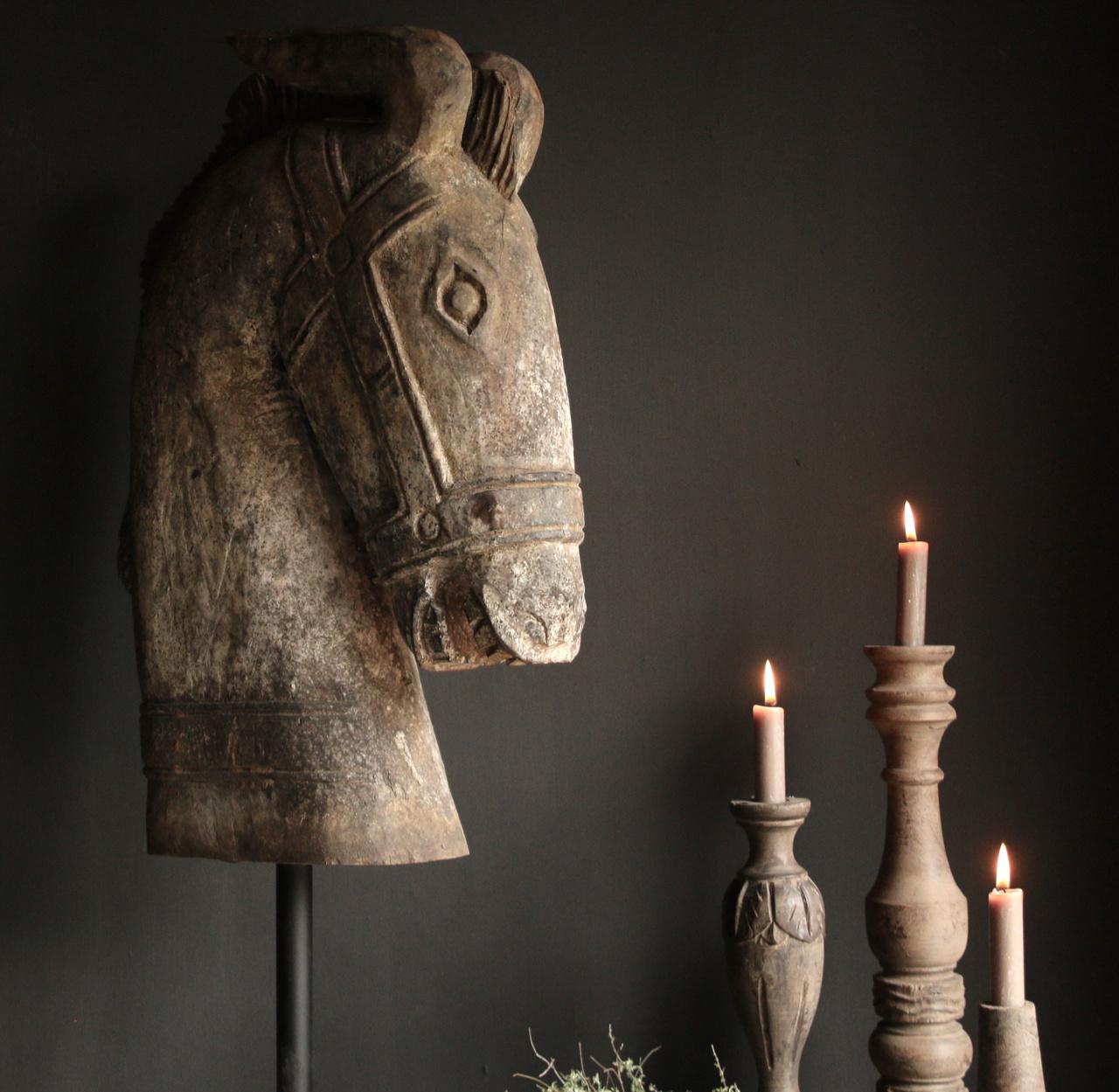Grote Houten paarden hoofd-5