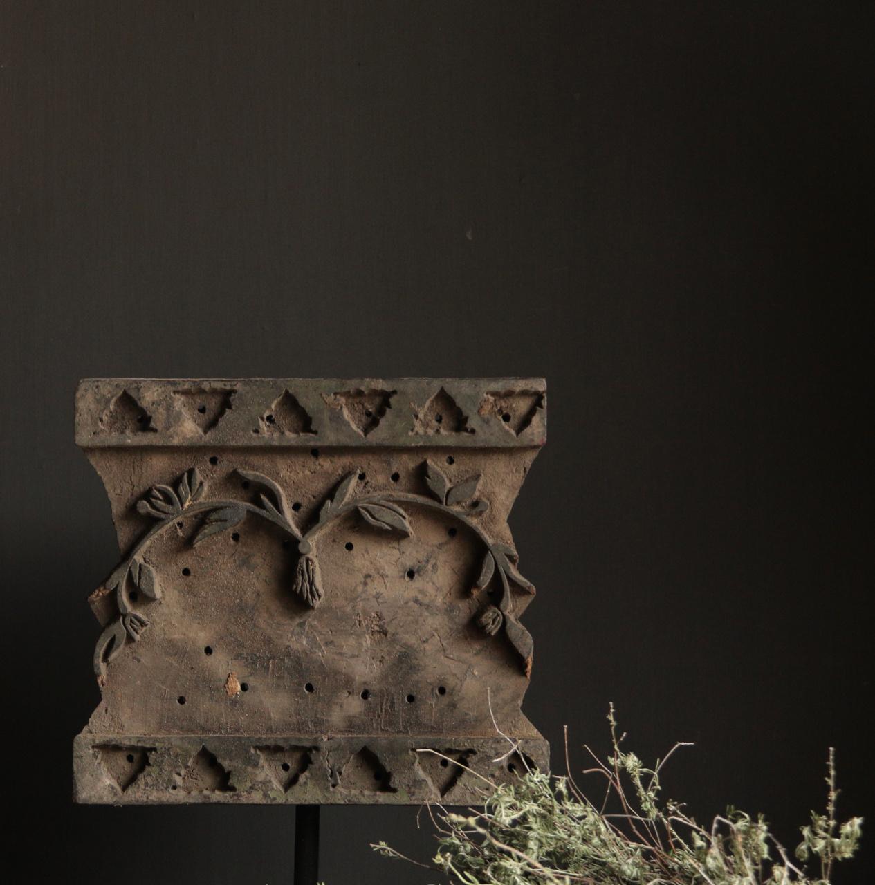 Prachtige XL Batik stempel op stalen statief-2