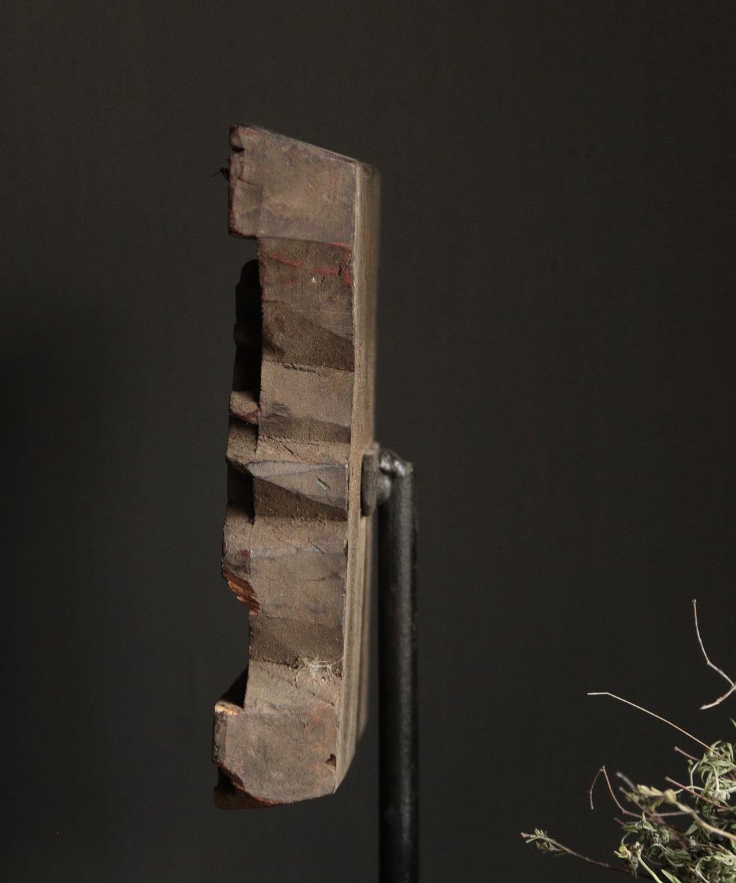 Prachtige XL Batik stempel op stalen statief-3