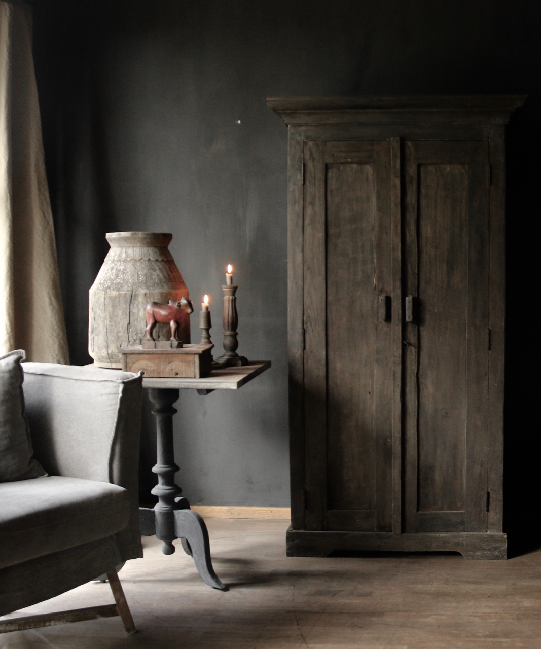 Beautiful solid old wooden cupboard-1