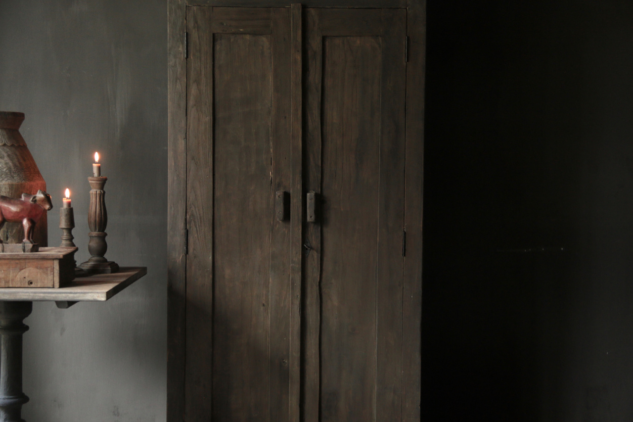 Beautiful solid old wooden cupboard-2