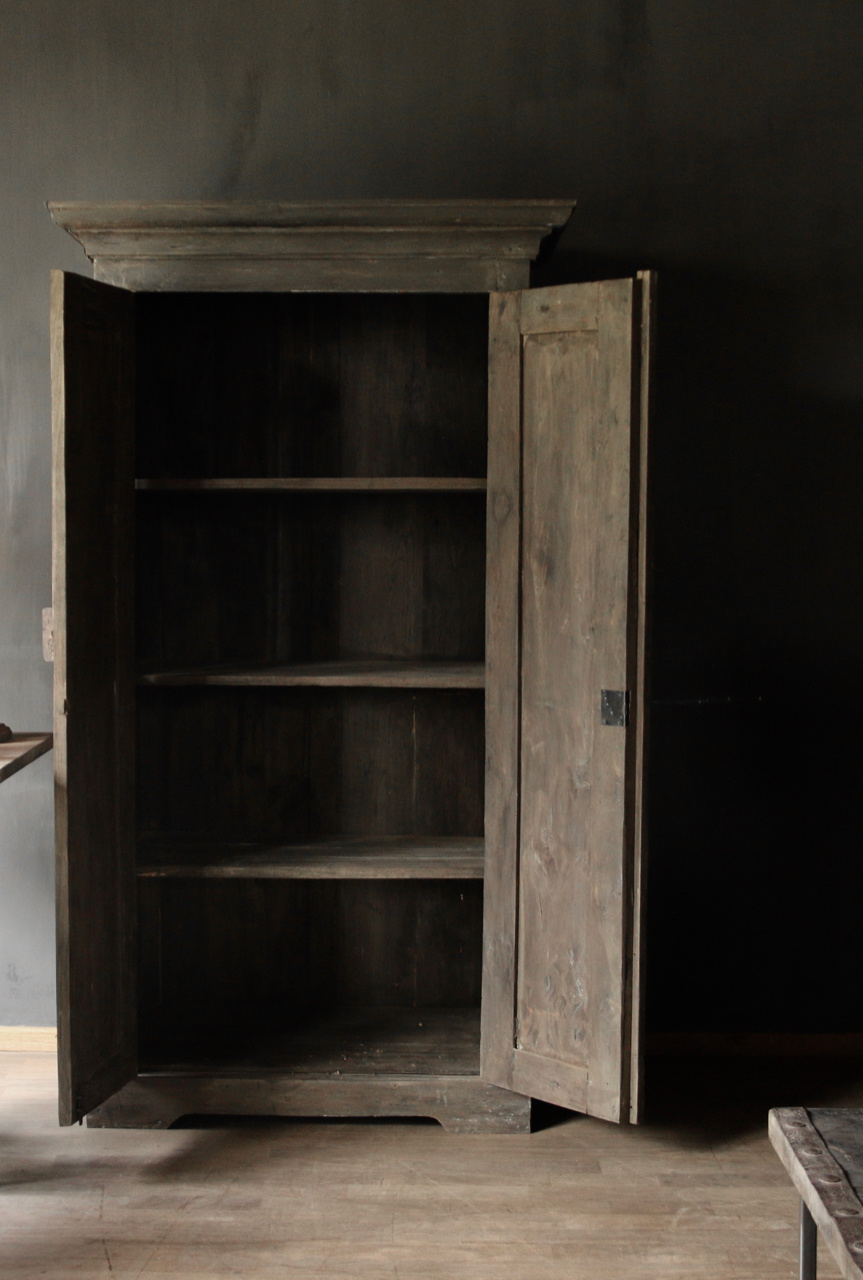 Beautiful solid old wooden cupboard-3