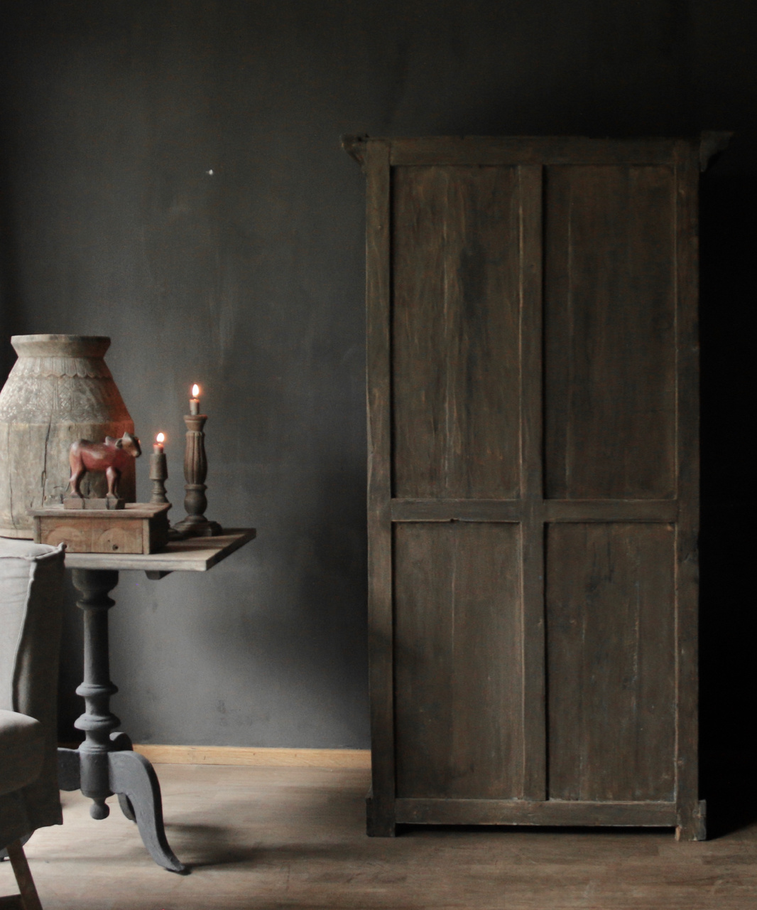 Beautiful solid old wooden cupboard-4