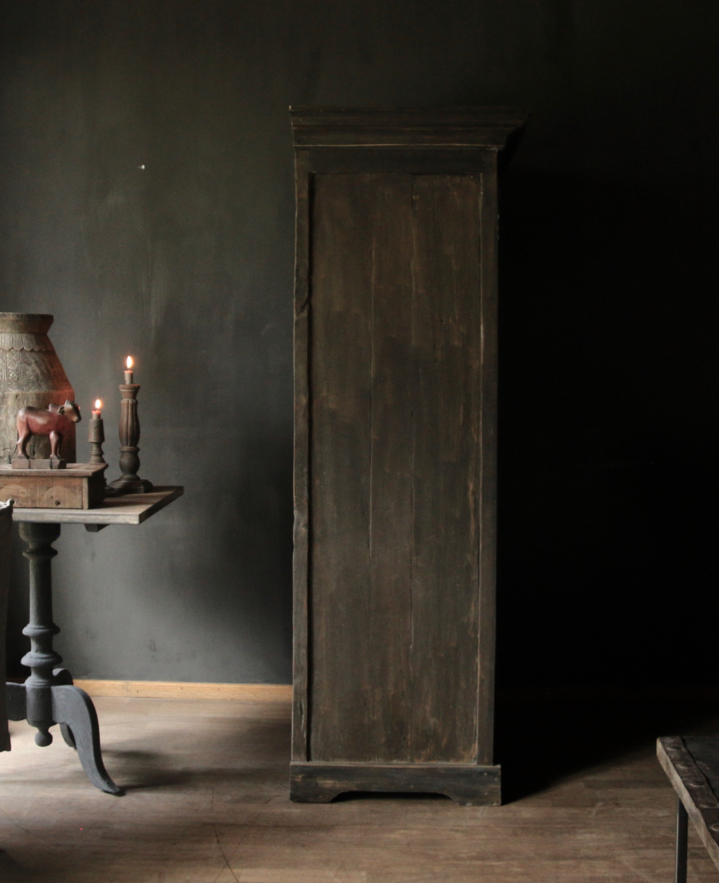Beautiful solid old wooden cupboard-5