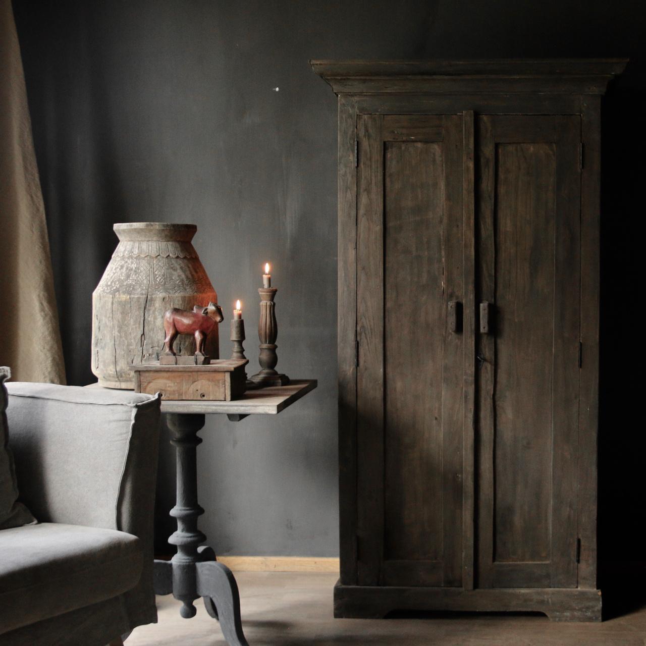 Prachtig massief  oud houten kast-6