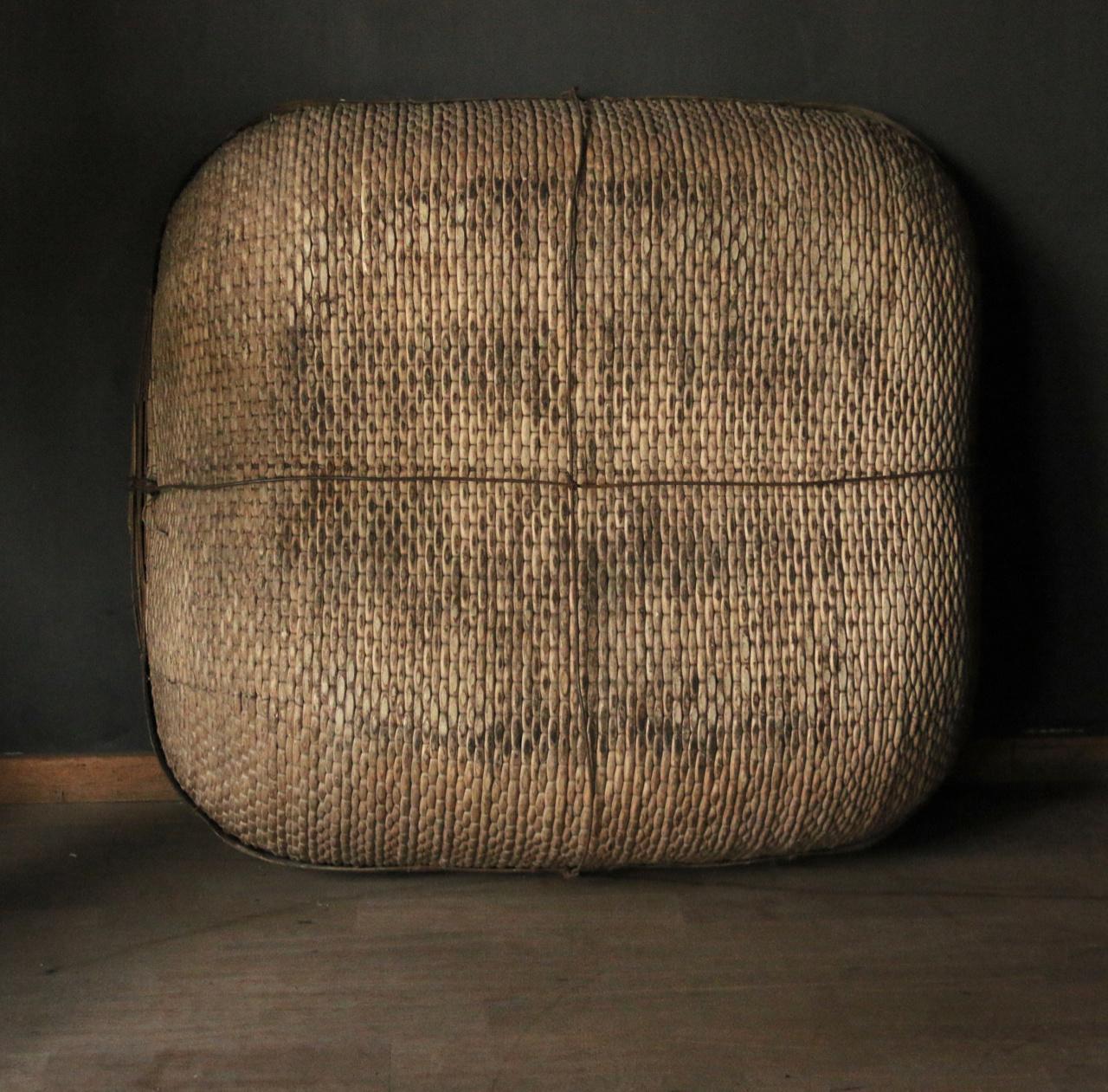 Authentic square XXL wicker basket-5