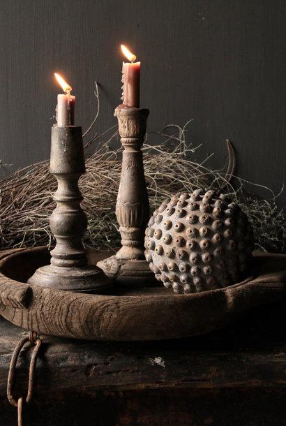 Stoere Houten bal  met houten nopjes