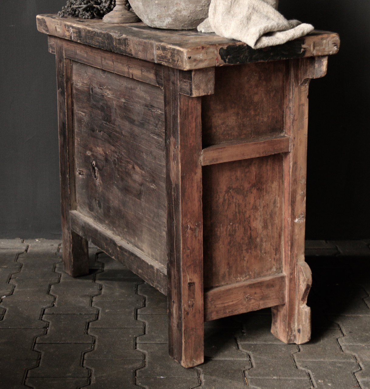 Old Authentic wooden drawer cabinet-3