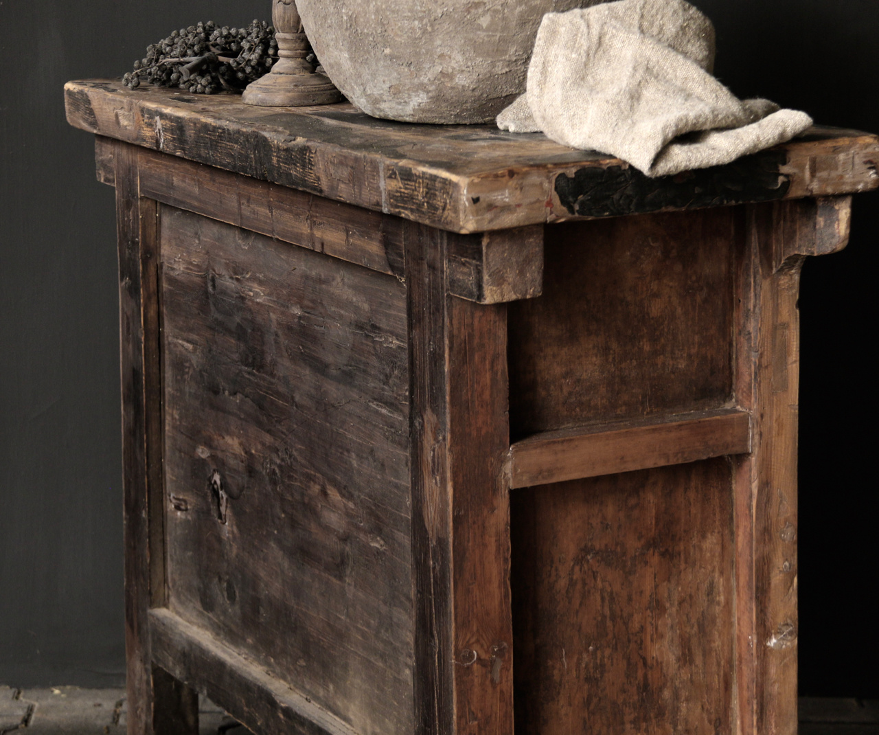 Old Authentic wooden drawer cabinet-6