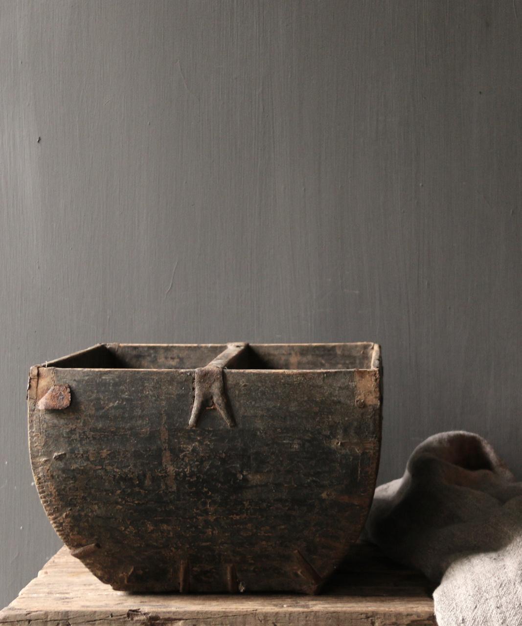 Oude houten zaai/Rijst bak-4