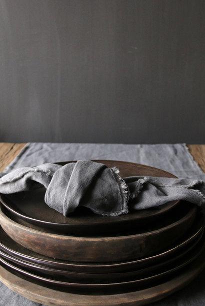 Stoer linnen servet /Grijs