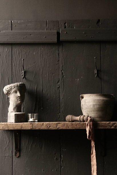 Oud driftwood houten wandplank/ muur plank  met ijzeren steunen 140cm