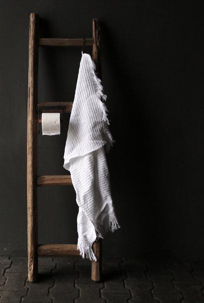 Toiletpapier Wc rol houder hout/IJzer