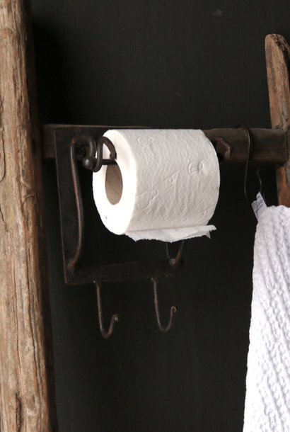 Toilet paper Toilet roll holder Iron
