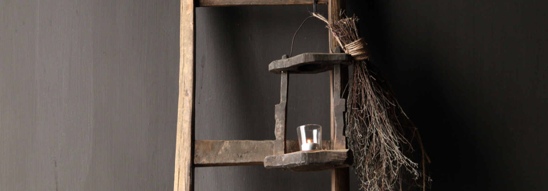 Old Authentic wooden lantern