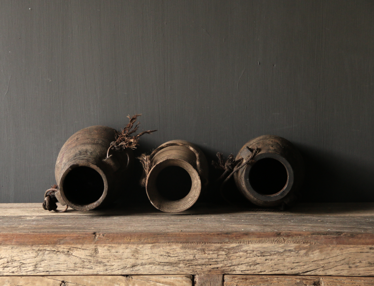 Old wooden Nepalese Jugs-5