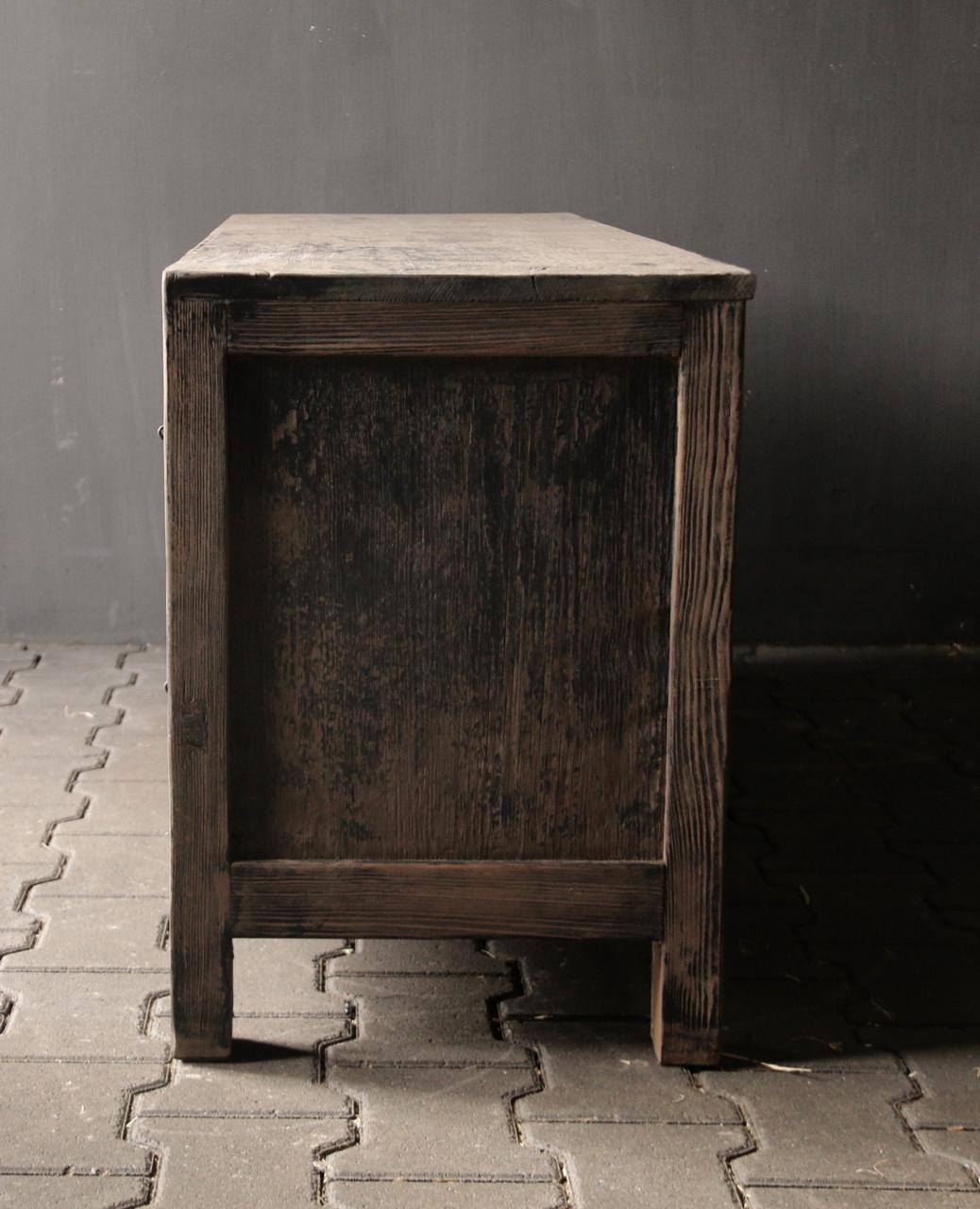 Tv Meubel / dressoir van oud Elmwood-3