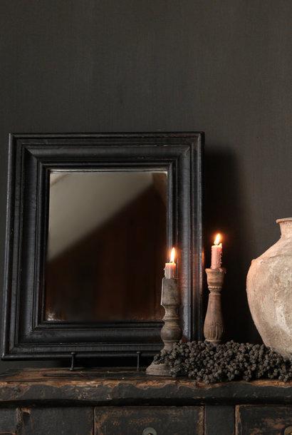 Schwarzer Holzspiegel