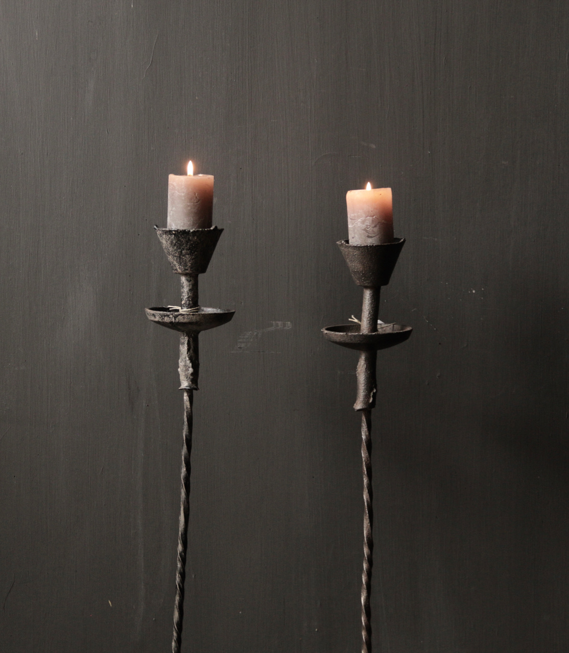 Authentic iron candlestick-2