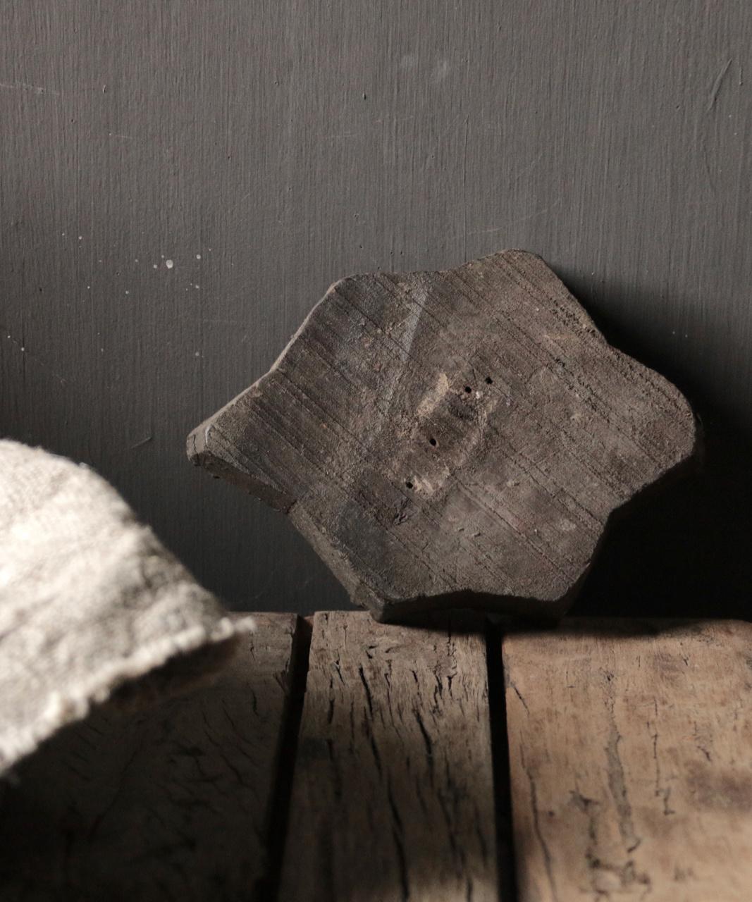 Alter hölzerner indischer Batikstempel-4